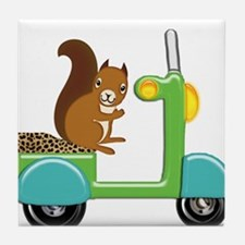 Squirrel on a Scooter Tile Coaster