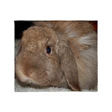 Morris the Happy Bunny Throw Blanket