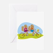 Squirrels on a Tandem Bike Greeting Cards