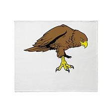 Brown Eagle Throw Blanket
