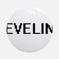 Evelin Digital Name Ornament (Round)