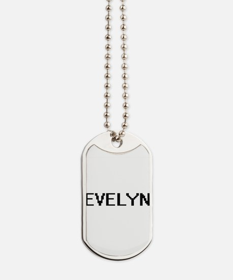 Evelyn Digital Name Dog Tags