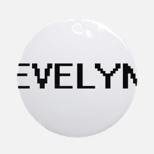 Evelyn Digital Name Ornament (Round)