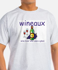 Wine Lover - Wineaux Ash Grey T-Shirt