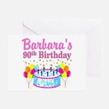 90 AND FABULOUS Greeting Card