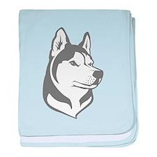 Wolf Head baby blanket