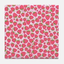 Strawberry Sweet Minis Tile Coaster