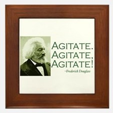 "Frederick Douglass ""Agitate!"" Framed Tile"