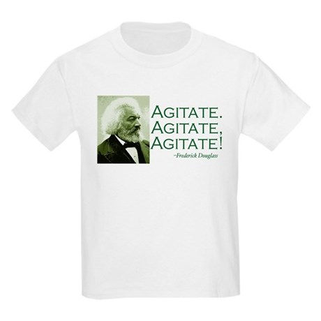"Frederick Douglass ""Agitate!"" Kids Light T-Shirt"