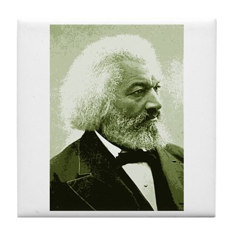 "Frederick Douglass ""Agitate!"" Tile Coaster"