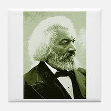 "Frederick Douglass ""Agitate!"" Tile Coaster"
