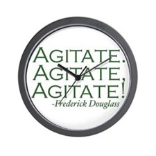 "Frederick Douglass ""Agitate!"" Wall Clock"