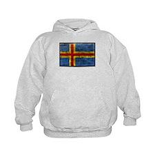 Dirty Aland Islands Flag Hoodie