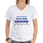 Cynthia Women's V-Neck T-Shirt