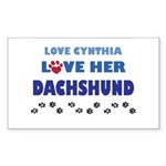 Cynthia Rectangle Sticker