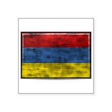 Dirty Armenia Flag Sticker