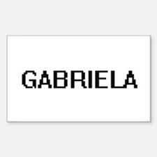 Gabriela Digital Name Decal