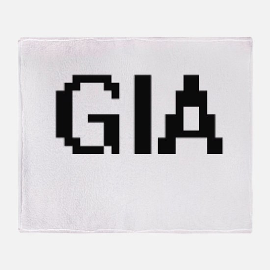 Gia Digital Name Throw Blanket