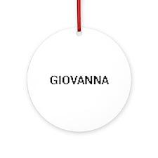 Giovanna Digital Name Ornament (Round)