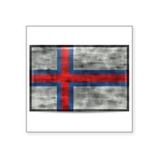 Dirty Faroe Islands Flag Sticker