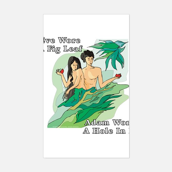 Adam and Eve Rectangle Decal
