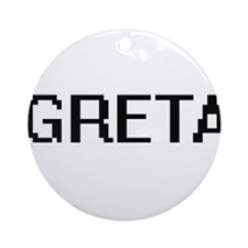 Greta Digital Name Ornament (Round)