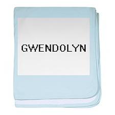 Gwendolyn Digital Name baby blanket