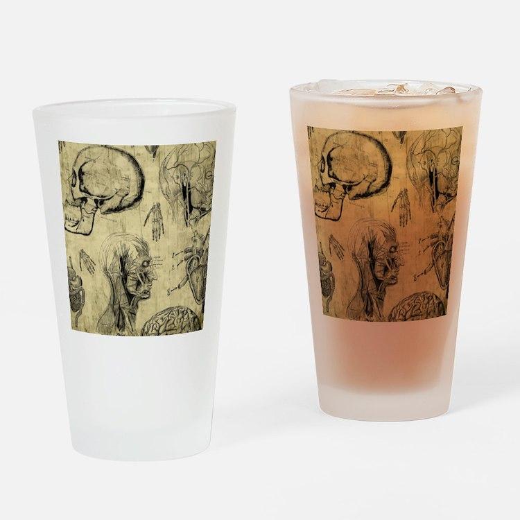 Vintage Human Anatomy Drinking Glass