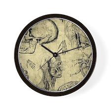 Vintage Human Anatomy Wall Clock