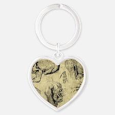 Vintage Human Anatomy Heart Keychain