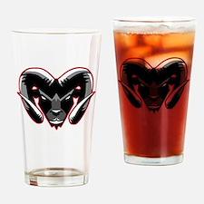 Ram Mascot Drinking Glass