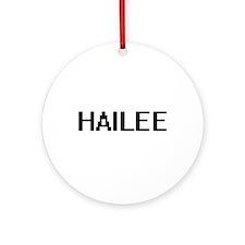 Hailee Digital Name Ornament (Round)