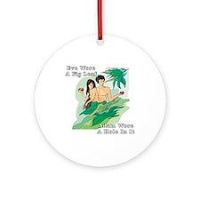 Adam and Eve Ornament (Round)