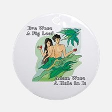 Adam and Eve Ornament (Round)