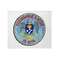USS HAROLD E. HOLT Throw Blanket