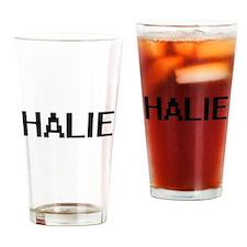 Halie Digital Name Drinking Glass