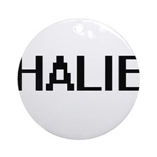 Halie Digital Name Ornament (Round)
