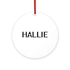 Hallie Digital Name Ornament (Round)