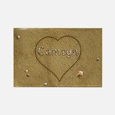 Camryn Beach Love Rectangle Magnet