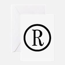 Registered Symbol Greeting Card