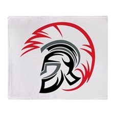 Roman Warrior Helmet Throw Blanket