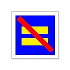 "Cute Gay rights Square Sticker 3"" x 3"""