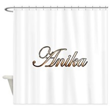Gold Anika Shower Curtain