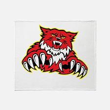 Bobcat Mascot Throw Blanket