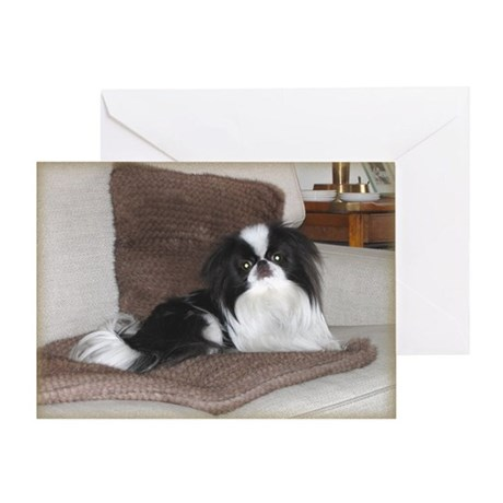 Deluxe Japanese Chin Darling Greeting Card