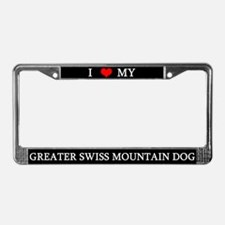 Love Greater Swiss License Plate Frame