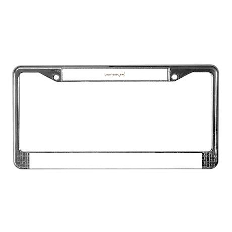 Brown-Eyed Girl License Plate Frame