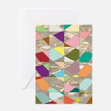 Abstract Colors Gold Greeting Card
