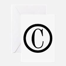 Copyright Symbol Greeting Card