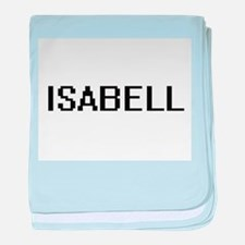 Isabell Digital Name baby blanket